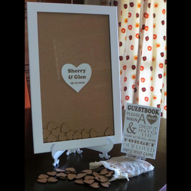 Wedding Guest Book Frame